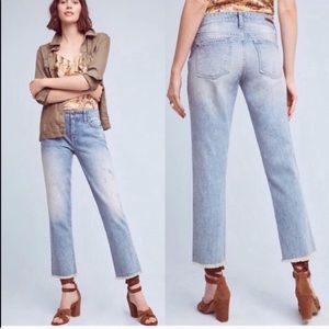 Anthro Pilcro Hyphen Mid-Rise Distressed Bf Jeans